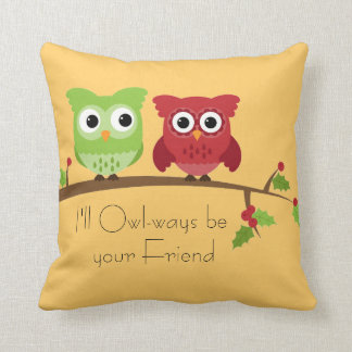 Owl Friends Pillow