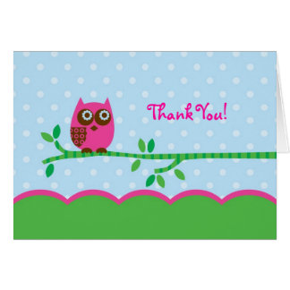 Owl Girl Thank You Card