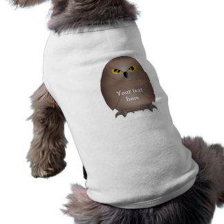 Owl glare cute dog tshirt