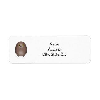 Owl glare cute return address return address label