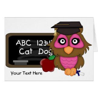 Owl Graduation 2 (customizable) Card