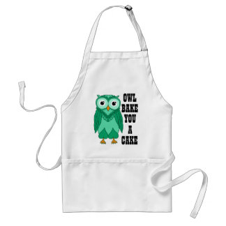 Owl Green Apron