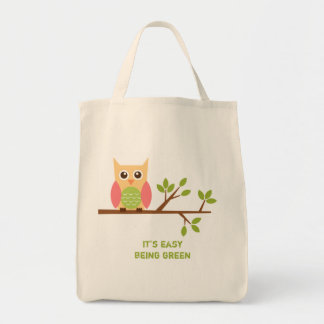 Owl grocery tote