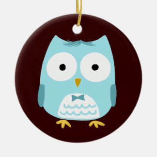 Owl Groom - Fun Wedding Gift Ceramic Ornament