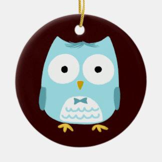 Owl Groom - Fun Wedding Gift Ceramic Ornament
