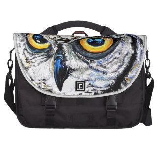 owl hand drawn art illustration laptop bags