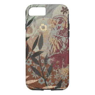 Owl Heart Branches Overlay And Texture Collage iPhone 8/7 Case
