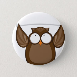 Owl Holding Sign 2 Inch Round Button
