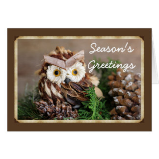 Owl Holiday greeting cards with envelope included