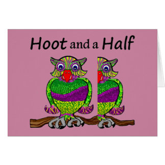 Owl Hoot and a Half Card
