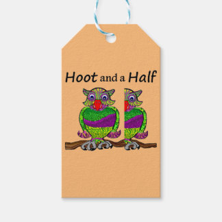 Owl Hoot and a Half Gift Tags