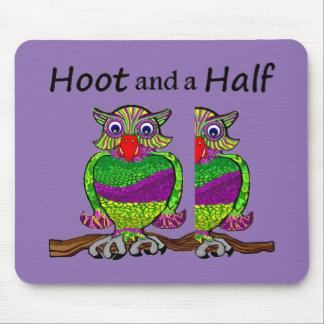 Owl Hoot and a Half Mouse Pad
