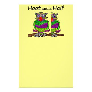 Owl Hoot and a Half Stationery Paper