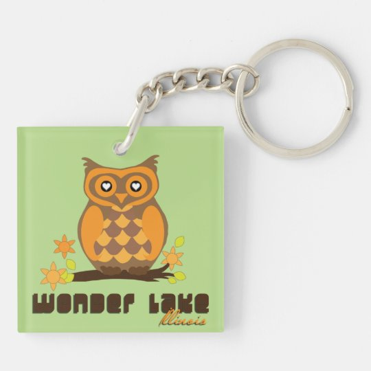 Owl Hoot Custom Square (double-sided) Keychain