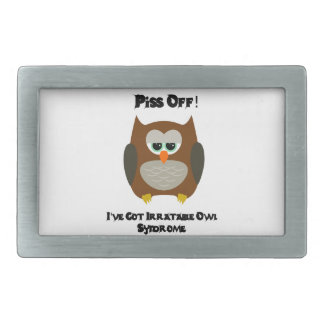 Owl Humor Rectangular Belt Buckles