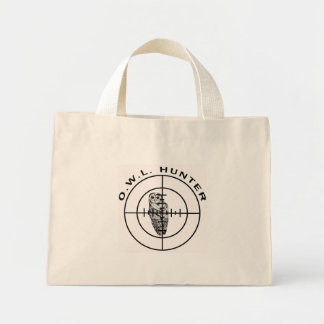 owl hunter v3 mini tote bag
