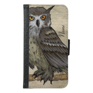 Owl Illustration Samsung Galaxy S6 Wallet Case