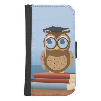 Owl illustration samsung s4 wallet case