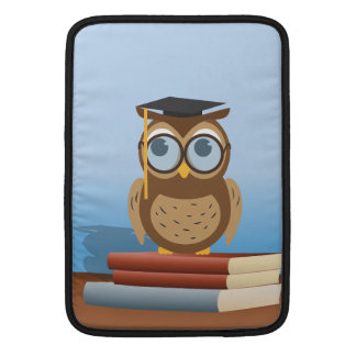 Owl illustration sleeve for MacBook air