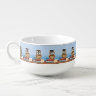 Owl illustration soup mug