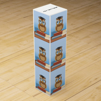 Owl illustration wine gift box