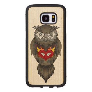 Owl Illustration Wood Samsung Galaxy S7 Edge Case