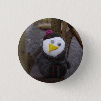 Owl in a Tree 1 Inch Round Button
