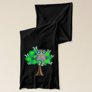 Owl in a Tree Scarf