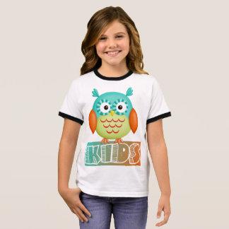 Owl in colors ringer T-Shirt