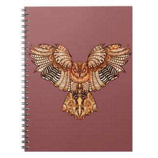 Owl in Flight 2 Notebooks