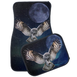 Owl in Flight Car Mat