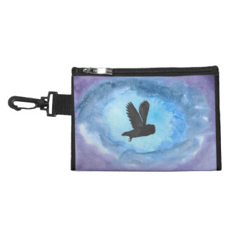 Owl In Flight Clip On Accessory Bag