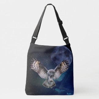 Owl in Flight Crossbody Bag
