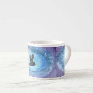 Owl In Flight Espresso Mug