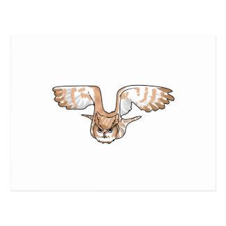 OWL IN FLIGHT POSTCARD