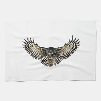 Owl in Flight Towels