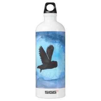 Owl In Flight Traveller Water Bottle