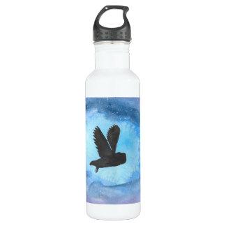 Owl In Flight Water Bottle