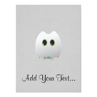 "Owl in halloween costume 6.5"" x 8.75"" invitation card"
