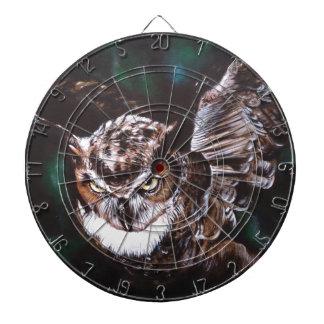 Owl in the night dartboard
