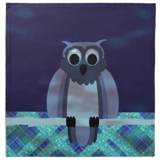 Owl In The Night Gingham Napkins