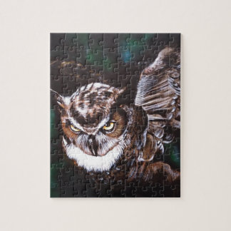Owl in the night jigsaw puzzle