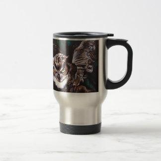 Owl in the night travel mug