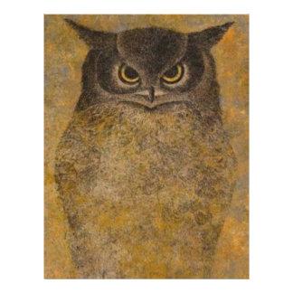 Owl Japanese Fine Art Custom Letterhead