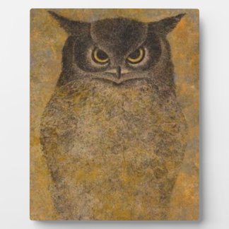 Owl Japanese Fine Art Plaque