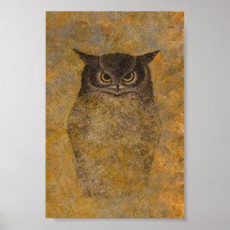 Owl Japanese Fine Art Poster