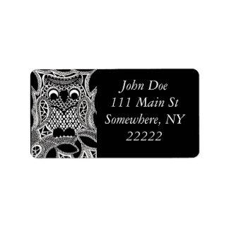Owl Address Label