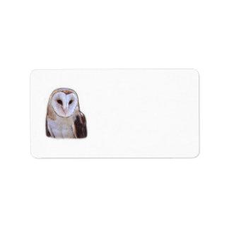 owl personalized address label