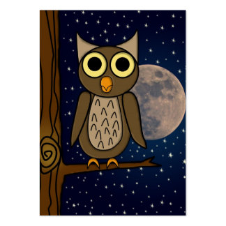 owl large business card