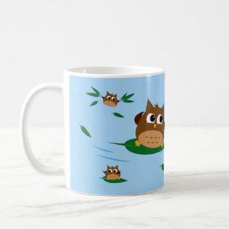 Owl Leaf Surf Design - Personalised Mug